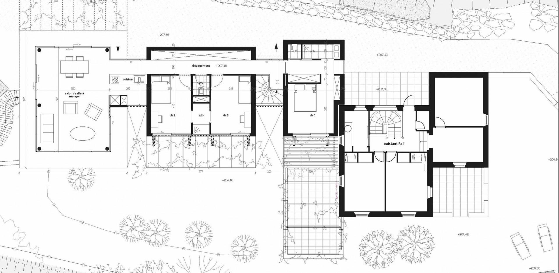 Plan dune maison familiale maison moderne for Plan maison familiale
